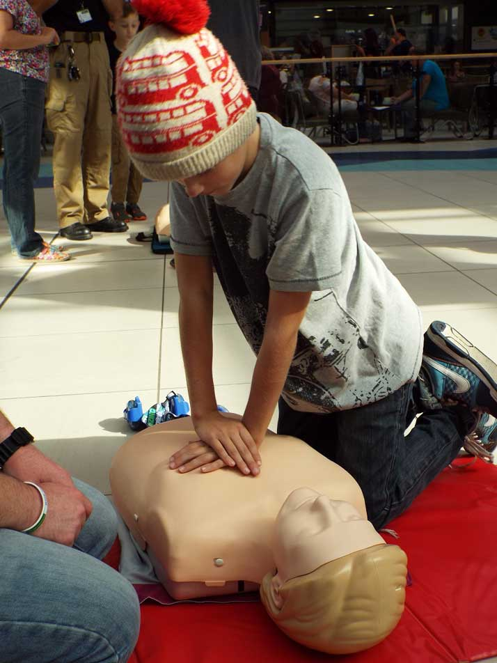 Finlay learns CPR