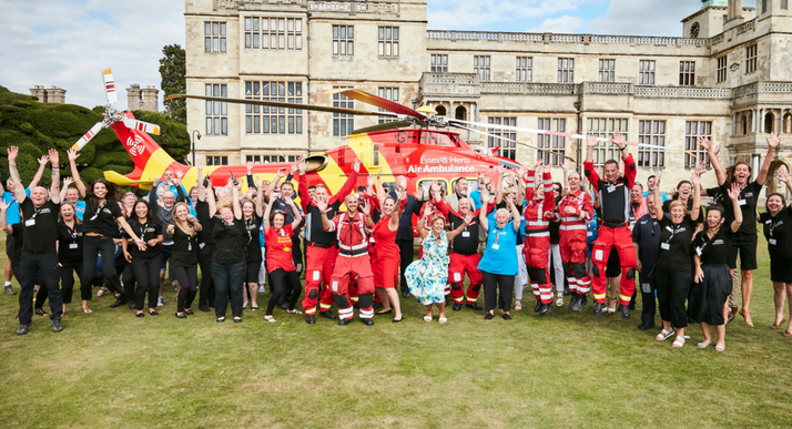 Staff, Crew and Volunteers celebrating 20 years of saving lives - web