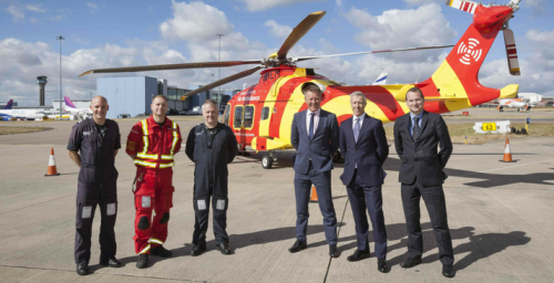 Essex & Herts Air Ambulance gets support from Harrods Aviation Ltd and London Luton Airport