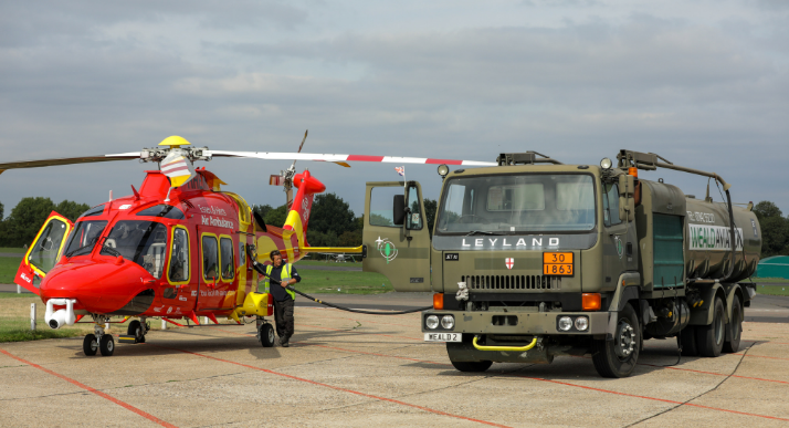 AW169 re-fuelling